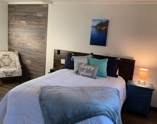 Room with queen memory foam bed and private bath. All rooms equipped with fridge and coffee maker and complimentary WiFi.  Rooms also have indoor bike hooks for storage and security.