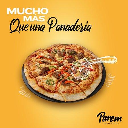 Panem es Mucho más que una Panadería. Aquí encontrarás una amplia variedad de Pizzas, como la tradicional de Pepperoni con champiñones, 4 Quesos, Salmón, Jamón Serrano, Diavolo y hasta una exclusiva Pizza Vegana 100%