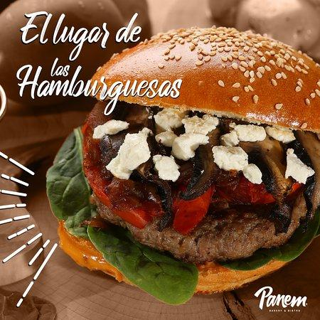Panem es el Lugar de las Hamburguesas. Prueba nuestra amplia variedad de estilos: Americana, Mexicana, Panem, Clásica... y también contamos con Hamburguesas Veganas 100%