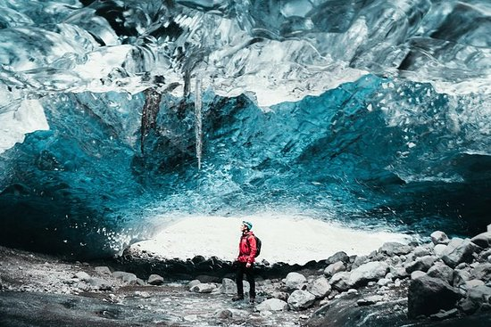 Natural Crystal Blue Ice Cave Tour i ...