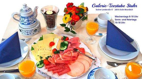 Stuhr, Almanya: An jedem Tag der Woche verwöhnen wir Sie ab 8 Uhr (sonn- und feiertags ab 10 Uhr) mit sechs verschiedenen Frühstücksvarianten je nach Appetit und Geldbeutel.