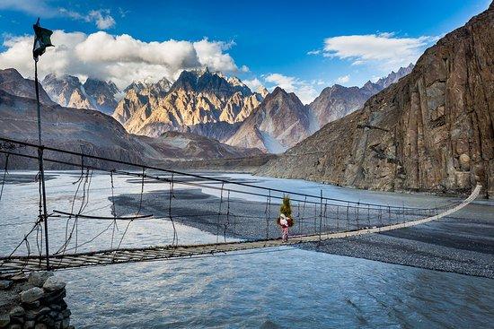 Hussaini suspension bridge near Passu