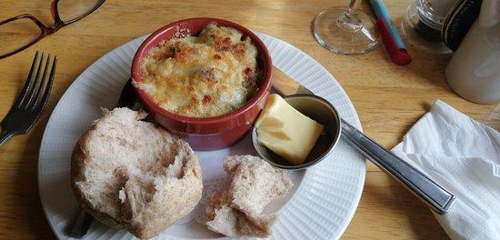 Nether Stowey, UK: My mushroom gratin starter,  yummy