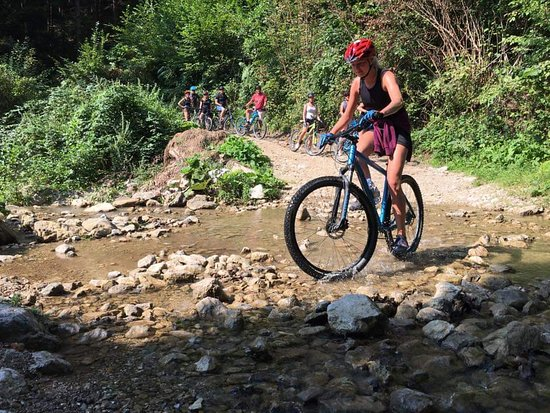 Radegunda, Slovenia: Crossing a small river