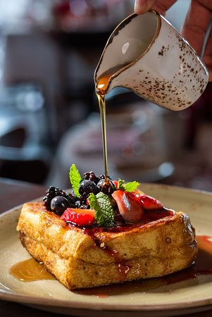 Creme Brule Stuffed French Toast - Brunch