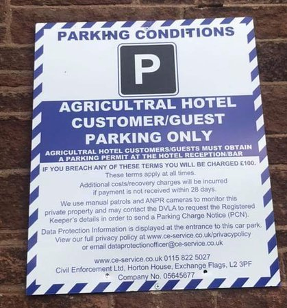 Car Parking Signs visible all over the car park from Oct 2019 - Please enter your registration