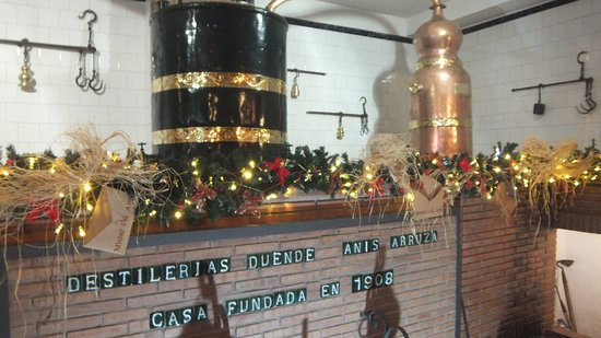 The mock up of a typical distillery