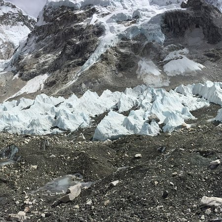 Everest  South Base Camp Nepal Side .  Everest base campsrefers generally to twobase campson opposite sides ofMount Everest: South Base Camp is inNepalat an altitude of 5,364 metres (17,598ft) (28°0′26″N86°51′34″E), while North Base Camp is inTibet, China at 5,150 metres (16,900ft) (28°8′29″N86°51′5″E).[1][2][3] The base camps are rudimentary campsites on Mount Everest that are used bymountain climbersduring their ascent and descent; they are also visited by tourists. South Base Cam