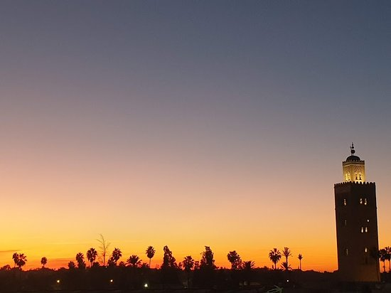 sunset view from the rooftop