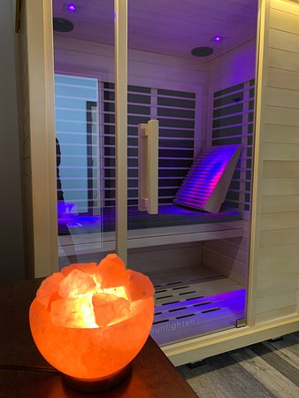 Hermon, ME: Try our Infrared Saunas! Infrared saunas are more comfortable than steam or dry heat saunas and feel like you are in the mid-summer sun. Come try our Sunlighten IR Saunas today!