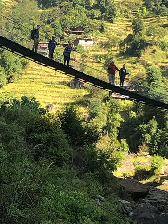 Sasane Sisterhood Trekking and Travel : Bridge en route to a village on the Nuwakot Trek.