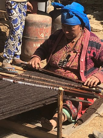 Sasane Sisterhood Trekking and Travel : Village weaver.