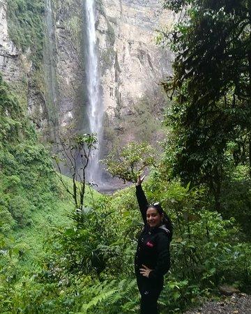 Mas cerca de la hermosa catarata Gocta