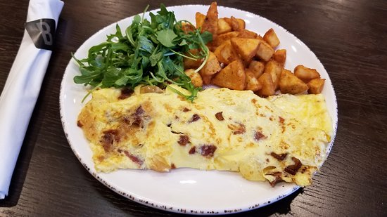 Bacon and Onion Omelet