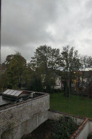 Brussels, Maison Autrique, view on the garden
