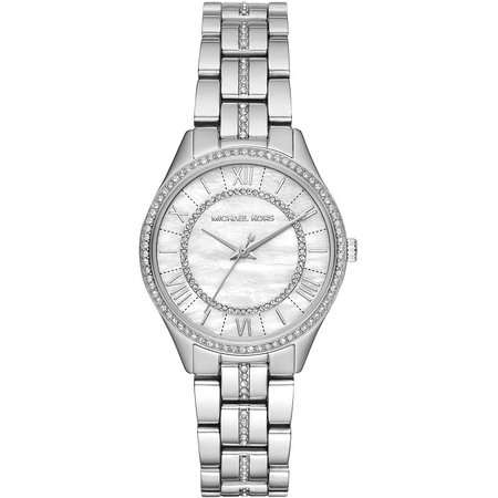 Michael Kors Ladies Stainless Steel Watch With Crystals, 2 Years International Warranty, On Special Offer.
