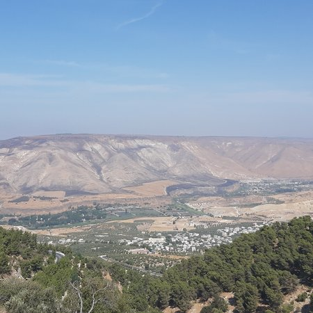 Umm Qays, Jordan: The Ancient City of Umm Qais, Northern Jordan, is an important tourist station with its cultural heritage and charming views overlooking the Lake of Tiberias and the Golan Heights
