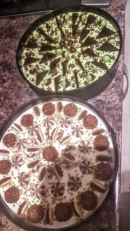Homemade Cheesecakes  oreo and after eight