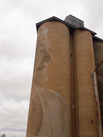 Image wraps around silo