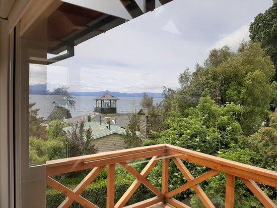 Vista lateral del deck desde el interior