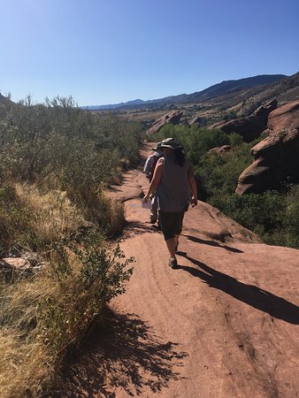 Geology Hike at Red Rocks Park: Mark leading the way on our amazingly informative and fun hike.