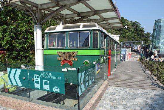 The tram station in Victoria Peak