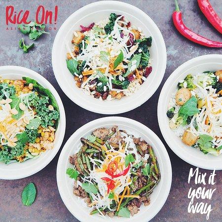 Station Food: Rice On! lockt mit frisch zubereiteten asiatischen Bowls.