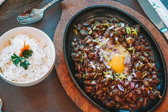 Lunch time. Sisig with steamed rice!