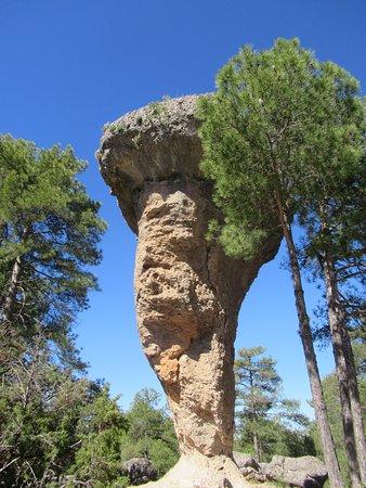 Valdecabras, España: El tormo è il simbolo della ciudad encantada. E' una delle diverse formazioni rocciose modellate dall'azione dell'acqua del fiume Jucar e dal vento. E' la più caratteristica da cui prende il nome anche una nota birra locale.