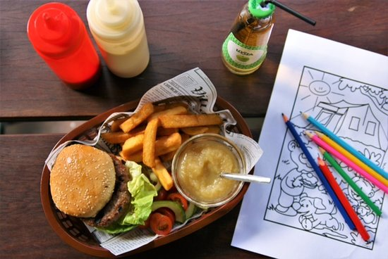 children menu and drawing!