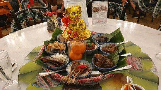 Peranakan style dinner