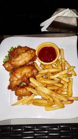 Fish in Batter and Chips. Yum!
