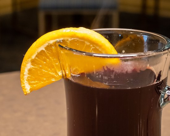 Mulled Wine - Classic, hot, and strong, our mulled red wine is extra toasty with Grand Marnier, mulling spices, and a cinnamon stick.