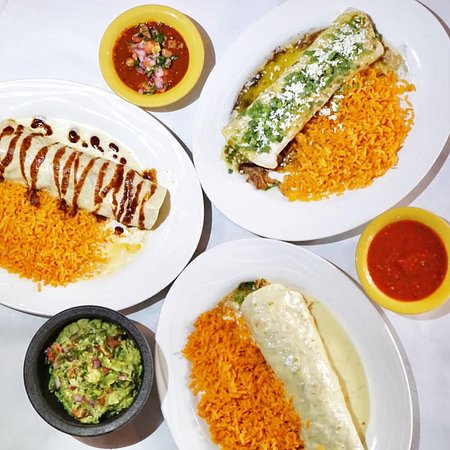 Our three most popular burritos. A1 Steak Burrito, Porky Pig Carnitas Burrito, & California Burrito.