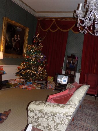 Early December the grounds and the 60's/70's Christmas rooms