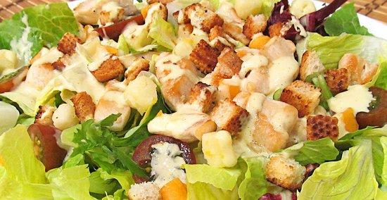 Ensaladas, frescas y saludables.