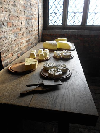 The Buttery In The Kitchen showing chesses and butters & backed cream in Gainsborough Old Hall