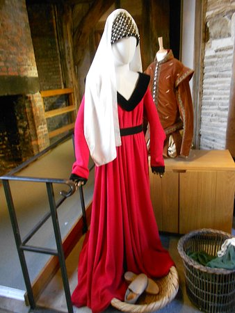 Medieval Costume on Display at Gainsborough Old Hall