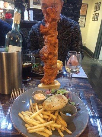 Hanging Chicken Kebab