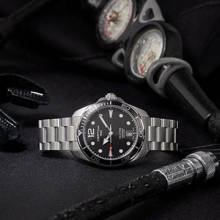 #Certina . With its bold design and robust chronometer movement, the DS Action diver's watch is everything you need while exploring the world. #CountOnMe