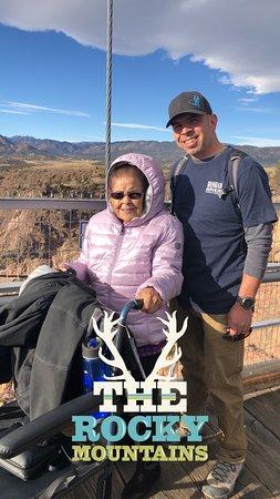 Ida (91) and grandson (45)