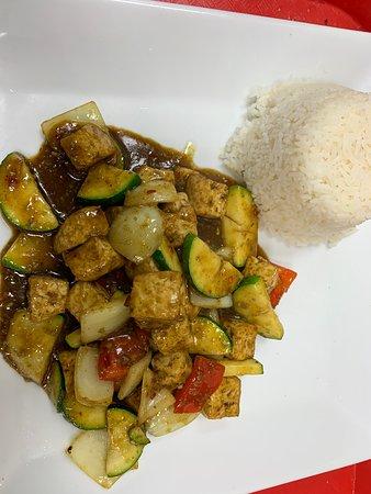 Tofu . With cury