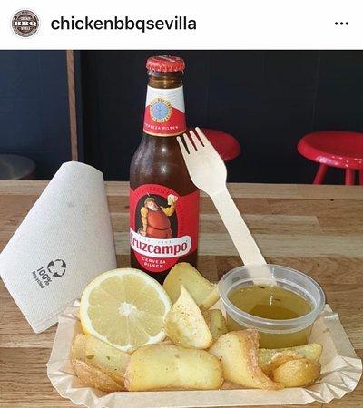 Nuestras patatas Dippers: Producto Nacional tiernos y crujientes a la vez, unas delicias de patatas lo nunca visto en un establecimiento de comida para llevar