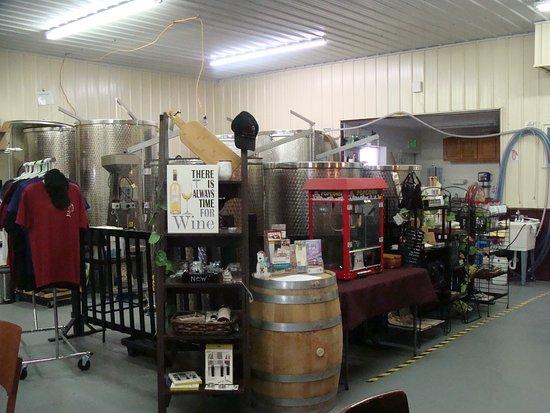 Sheridan, IN: Inside the winery.