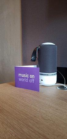 Bluetooth speaker in my room.