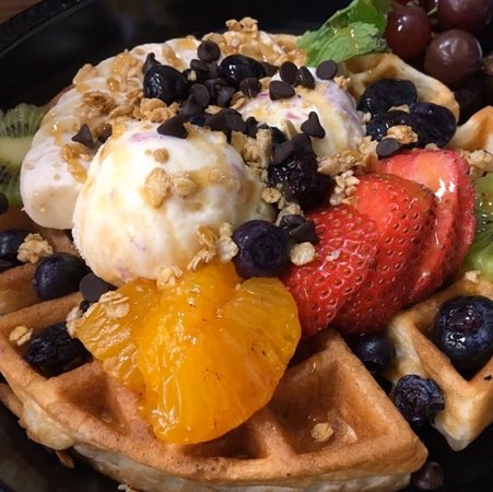 Create your own waffle creation.