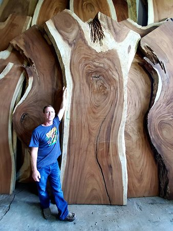 Exotic wood slabs for sale from Central America stop in and build with us.