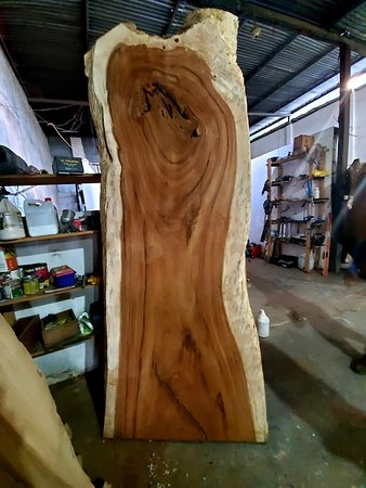 Exotic wood slabs from Central America