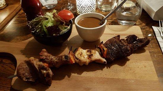 Werchter, Bélgica: Voor kleine vleeseters is dit ideaal. Je bestel hem zo groot of zo klein als je wil.