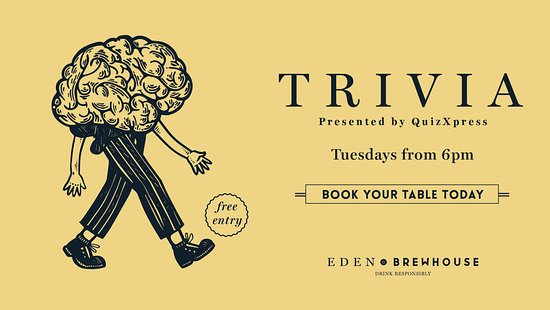Trivia - Tuesdays from 6pm